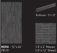 bambu nero ceramic porcelain floor tile