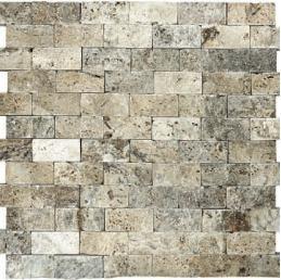 byzantine splitface travertine stone mosaic