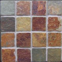 copper rust slate 2x2 mosaic