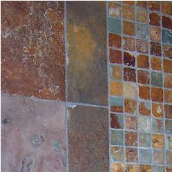 copper rust slate floor tile