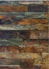 copper rust splitface slate ledgestone