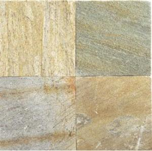 golden white slate quartzite floor tile