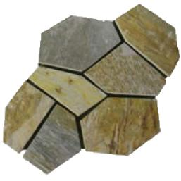 golden white slate quartzite floor tile flagging