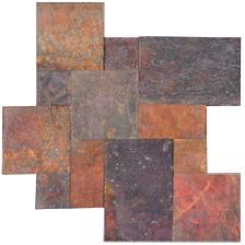 kund multicolor slate tile flooring Versailles pattern