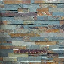 slate ledgestone fireplace stacked stone