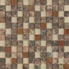 bass straight stone mosaic emperador dark marble glass copper