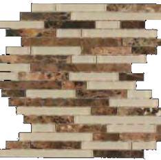 bass straight stone mosaic emperador dark marble glass waterfall