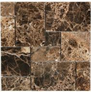 daintree maniscalco emperador dark marble french mosaic