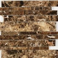 daintree maniscalco emperador dark marble waterfall mosaic
