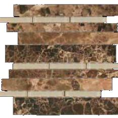 daintree maniscalco emperador dark glass marble waterfall mosaic
