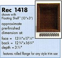 recessit-1418 Shower Shelf for tile