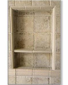 recessit installed Shower Shelf for tile