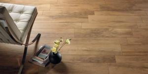 xilema wood-looking tile room scene