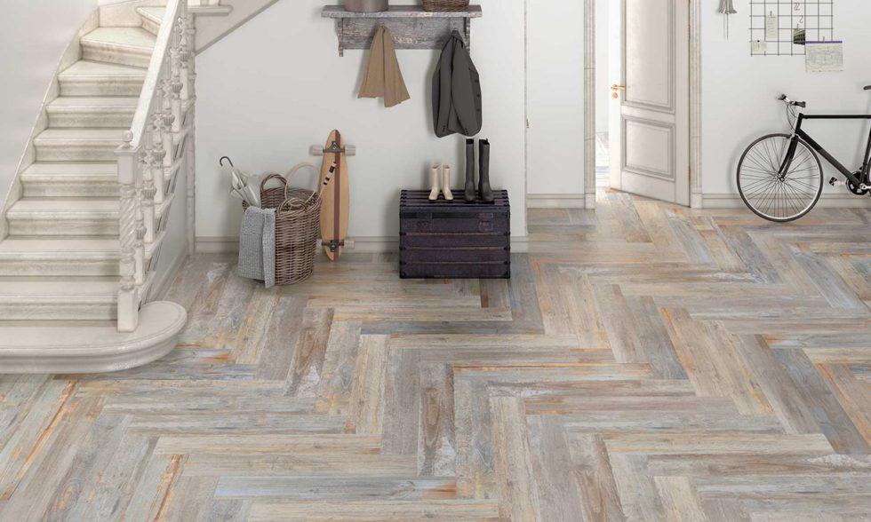 Kiruna Beige Grey wood look tile