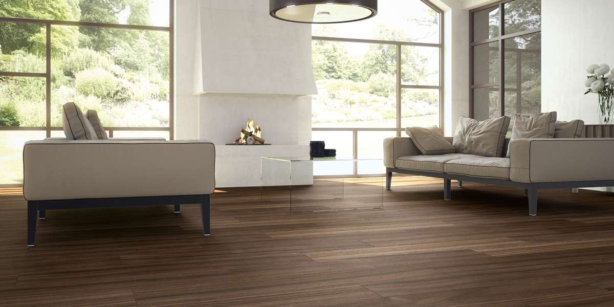 pasadena Nogal wood look tile Happy Floors